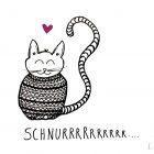 Schnurrende Katze