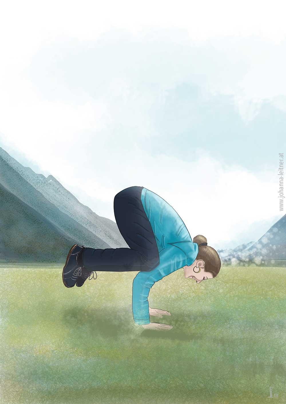 Yoga Krähe Kranich Neuseeland
