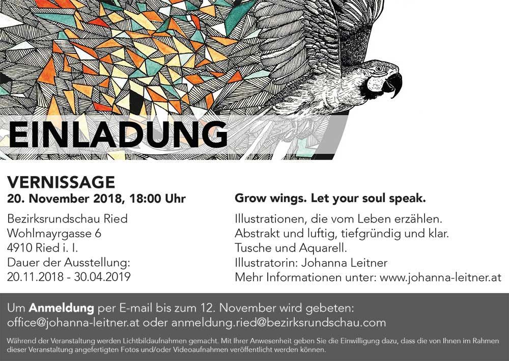 Vernissage Johanna Leitner Ried im Innkreis