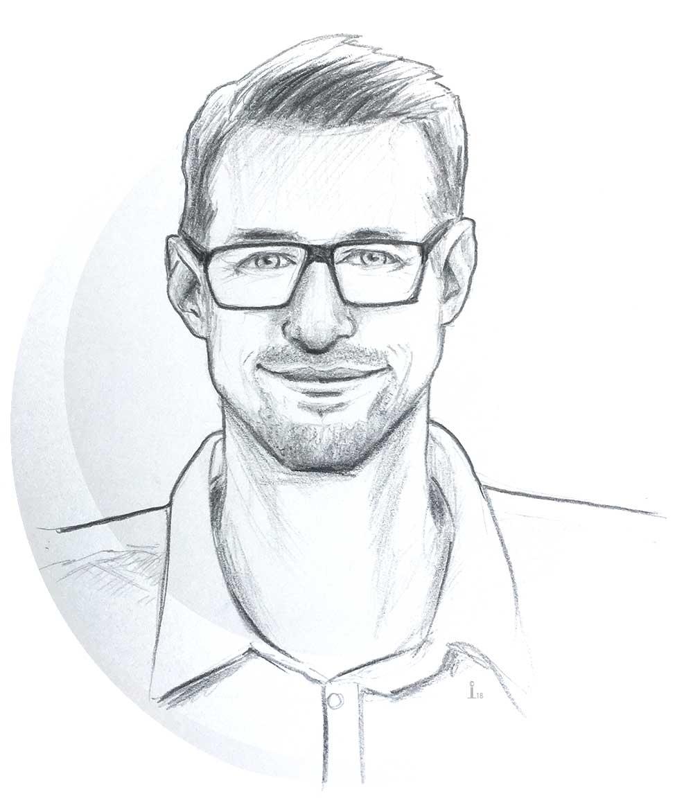 Michael Müller Ingeniuerbüro für Maschinenbau Illustration Johanna Leitner