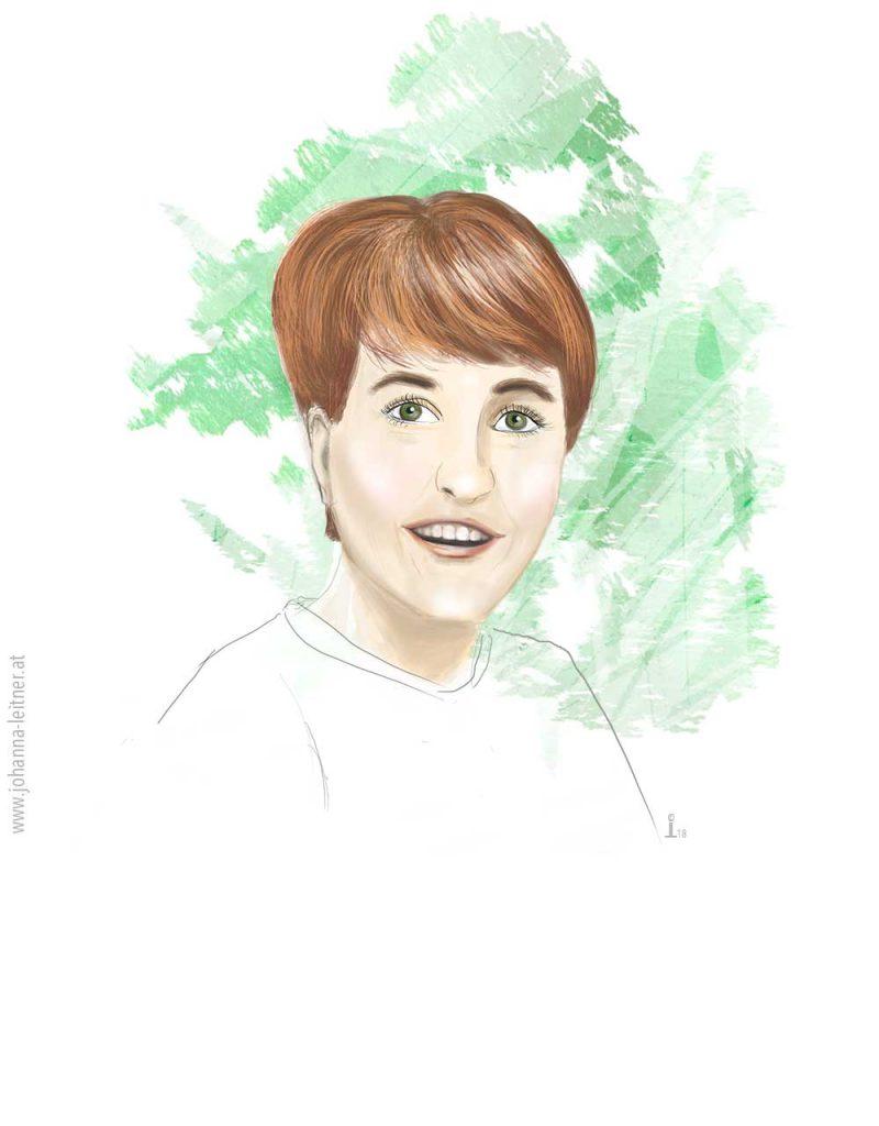 Digitales Porträt Illustration